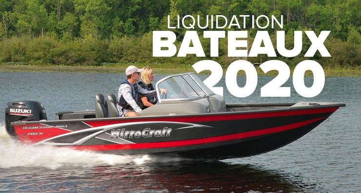 Liquidation sur les bateaux 2020